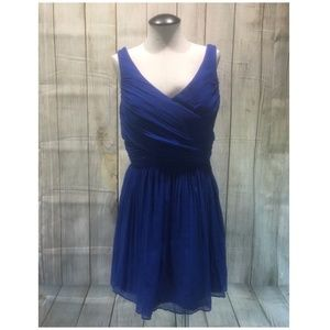 J. Crew Women Dress sleeveless vneck short silk